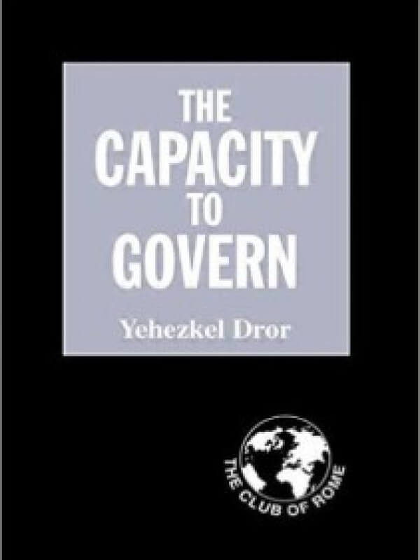 The Capacity to Govern<span> – 2001</span>