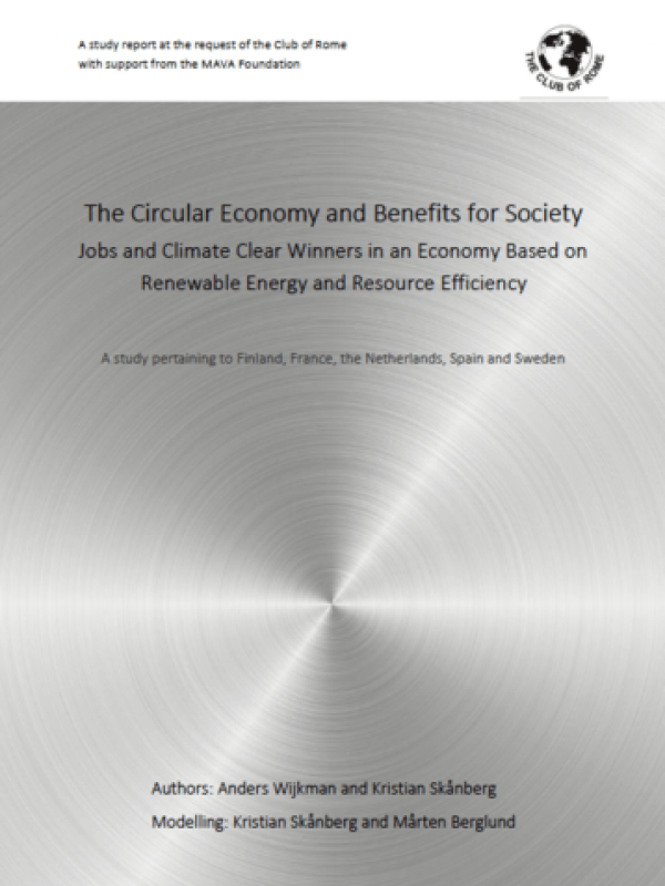 The Circular Economy and Benefits for Society<span> – 2017</span>