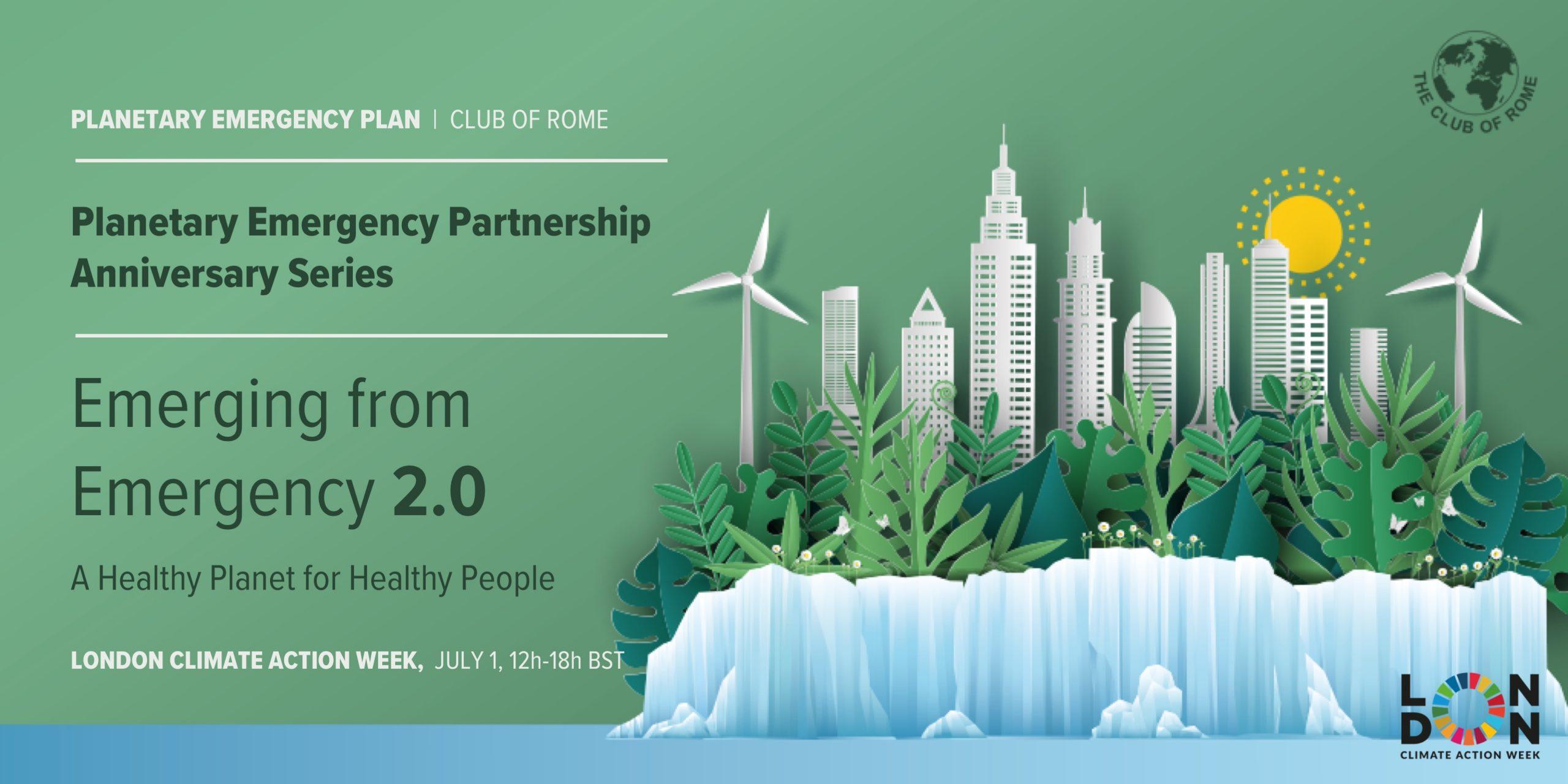 London Climate Action Week: Planetary Emergency Partnership Anniversary Series