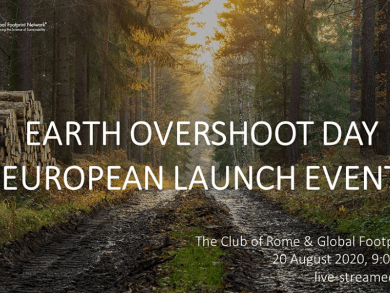 Earth Overshoot Day 2020: European Launch Event