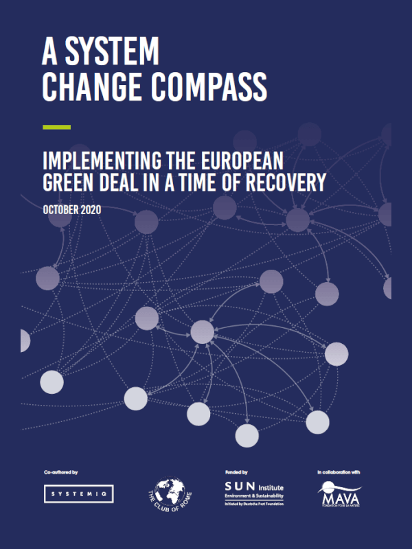 A System Change Compass: Implementing the European Green Deal in a time of recovery<span> – 2020</span>