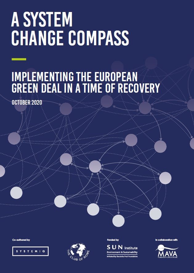 A System Change Compass: Implementing the European Green Deal in a time of recovery